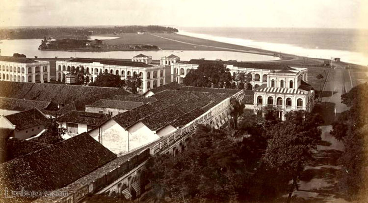 Galle-Face in 1880's in colombo,Sri Lanka